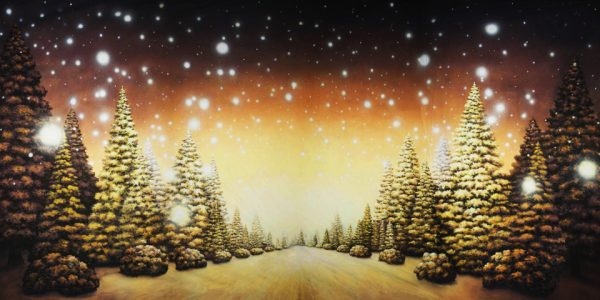 Christmas Tree Path Professional Scenic Backdrop