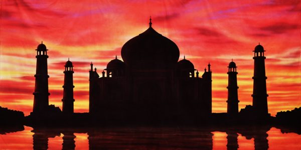 Taj Mahal Sunset Scenic Backdrop