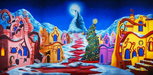 Whoville Christmas Scenic Backdrop