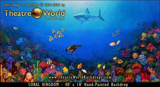 Coral Kingdom Scenic Backdrop