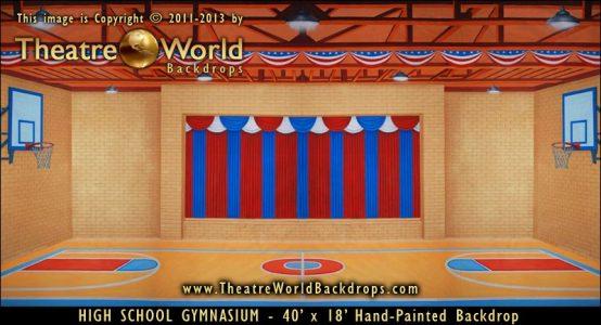 High School Gymnasium Scenic Backdrops