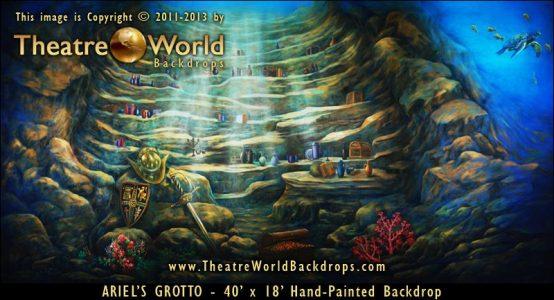 Ariel's Grotto Scenic Backdrop