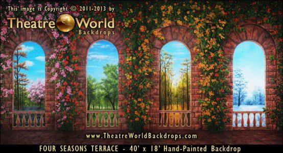 Four Seasons Terrace Scenic Backdrop