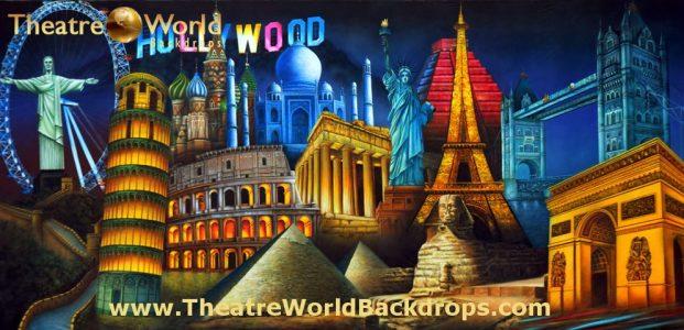 Famous World Landmarks Scenic Backdrop