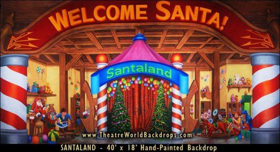 Santaland Scenic Backdrop