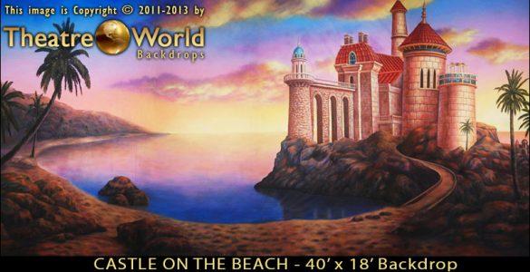 Castle on the Beach Scenic Backdrop