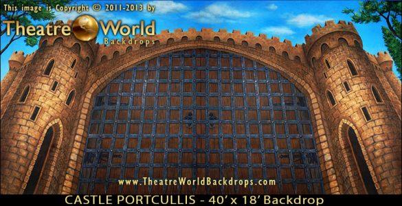 Castle Portcullis Scenic Backdrop