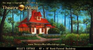Belle's Cottage Scenic Backdrop