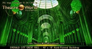 Emerald City Great Hall Scenic Backdrop
