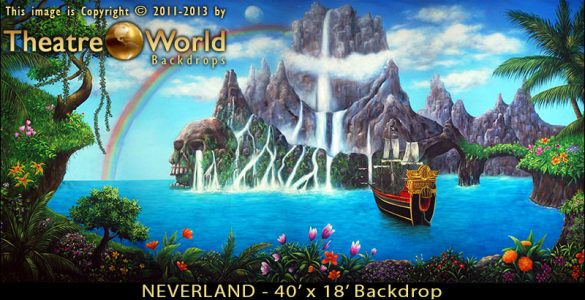 Neverland Scenic Backdrop