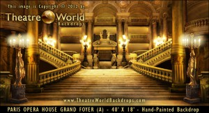 Paris Opera House Grand Foyer Scenic Backdrop