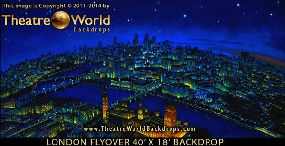 London Flyover Scenic Backdrop
