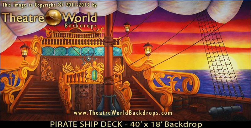 Pirate Ship Deck Backdrop PETER PAN Backdrop Sui...
