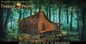 Wood Cottage Scenic Backdrop