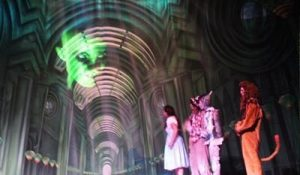 Emerald City Great Hall Professional Scenic Backdrop with Projected Wizard of Oz