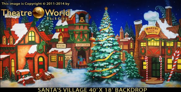 Santa's Village Scenic Backdrop