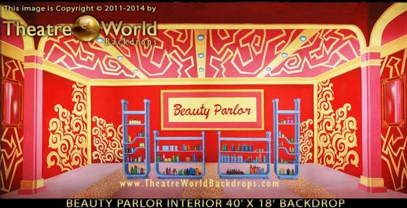 Beauty Parlor Interior Scenic Backdrop
