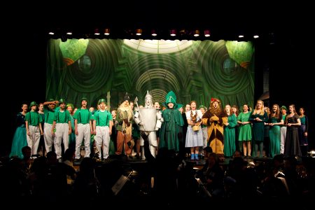 Lincoln High School performing WIZARD OF OZ with TheatreWorld Professional Scenic Backdrop