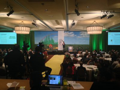 TheatreWorld's Professional Scenic Road to Oz Backdrop Used at a Corporate Meeting