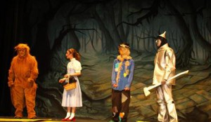TheatreWorld's Hanted Forest backdrop used in a IZARD OF OZ production by Brookville High