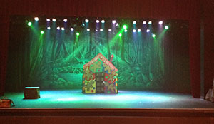 Stage Productions Family Theatre usinf TheatreWorld's Extremely Dark Forest backdrop