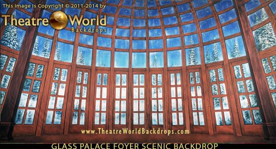 TheatreWorld's Glass Palace Foyer Professional Scenic Backdrop for THE NUTCRACKER