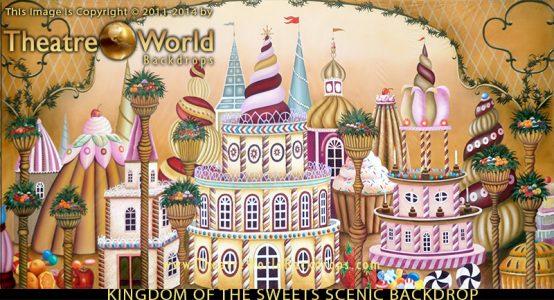TheatreWorld's Classical Kingdom of the Sweets Professional Scenic NUTCRACKER Backdrop