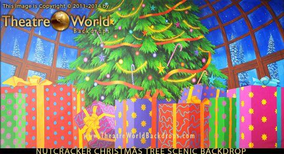 TheatreWorld's Nutcracker Christmas Tree Professional Scenic Backdrop for THE NUTCRACKER