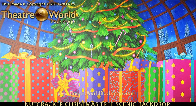 TheatreWorld's Nutcracker Christmas Tree backdrop for THE NUTCRACKER