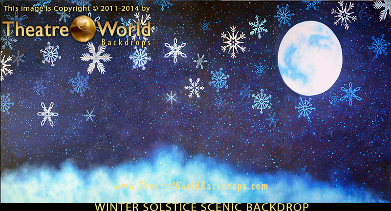 THeatreWorld's Winter Solstice backdrop depicting general winter imagery for THE NUTCRACKER