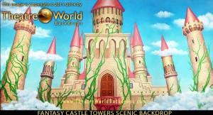 Fantasy castle towers backdrop