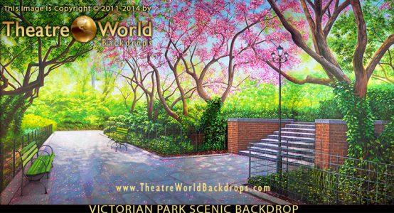 Victorian Park Professional Scenic Backdrop