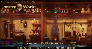 Olde World Toy Shoppe Professional Scenic Backdrop