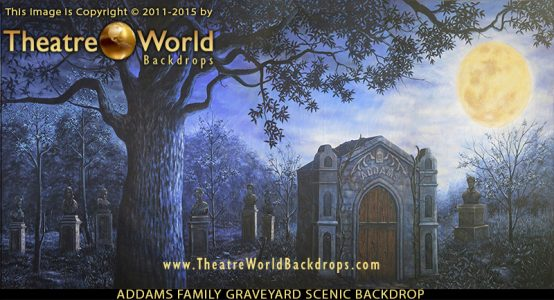 Addams Family Graveyard Scenic Backdrop