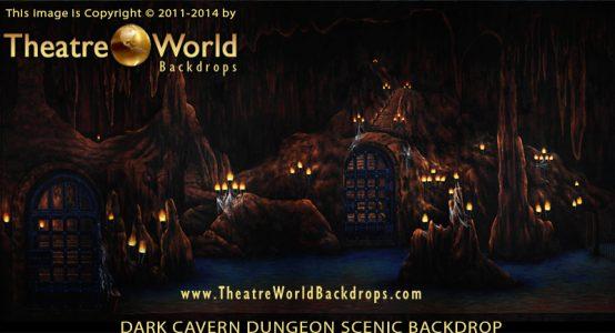Dark Cavern Dungeon Professional Scenic Backdrop