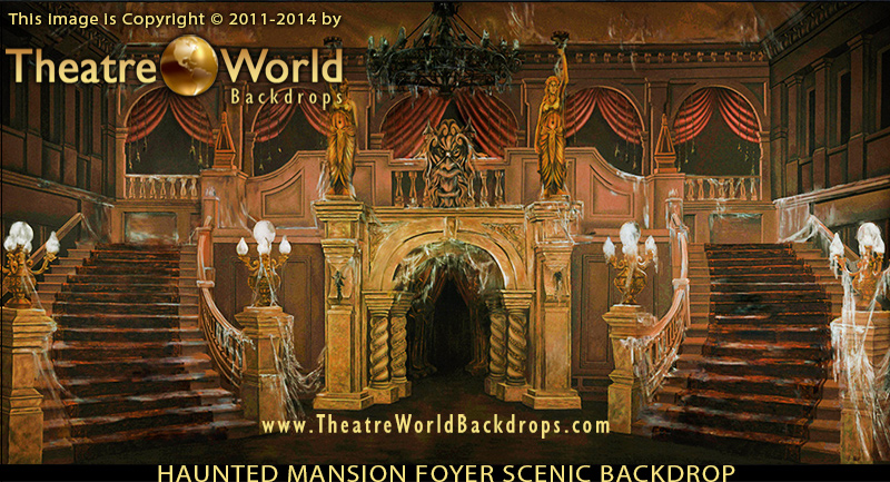 addams family backdrop suite tackles the entire script theatreworlds backdrop blog addams family set