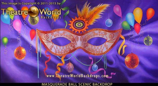 Masquerade Ball Professional Scenic Backdrop