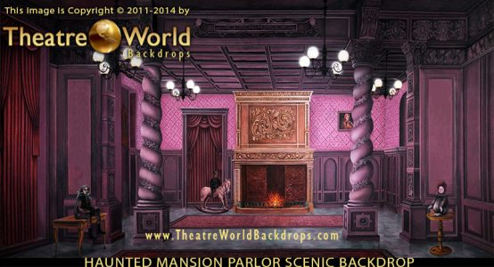Addams Family Vintage Parlor Professional Scenic Backdrop