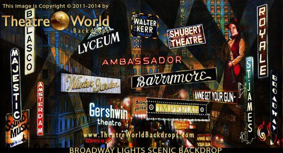Broadway Lights Professional Scenic Backdrop