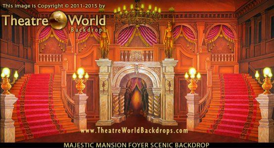 Majestic Mansion Foyer Professional Scenic Backdrop
