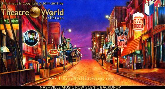 Beale Street Memphis Professional Scenic Backdrop
