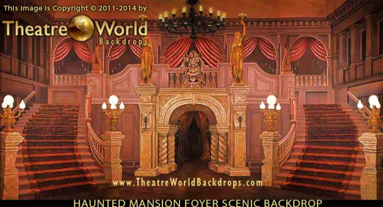 Haunted Mansion Foyer Professional Scenic backdrop