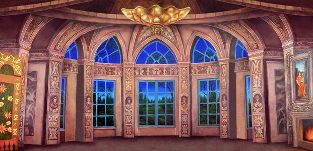 Professional Baroque Ballroom Scenic Backdrop