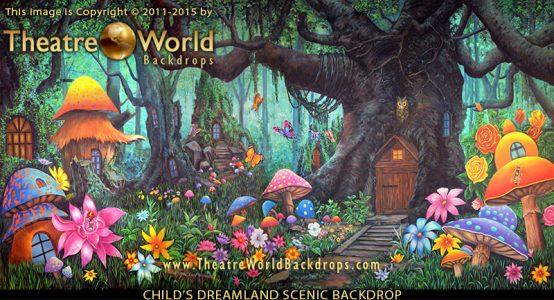 Professional Scenic Backdrop Child's Dreamland