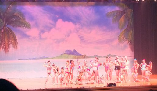 Professional Scenic Backdrop Tropical Paradise Charlene's School of Dance