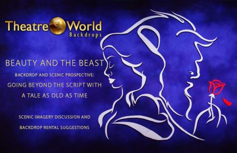Beauty and the Beast Professional Scenic Backdrop