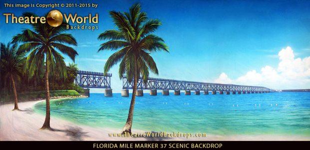 Professional Scenic Backdrop Florida Keys Mile Marker 37