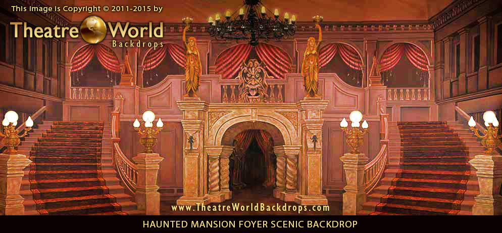 Haunted Mansion Holiday Foyer Music : Beauty and the beast backdrop scenic prospective