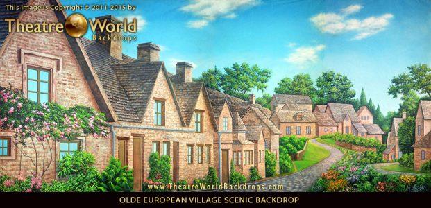Olde European Village Professional Scenic Backdrop