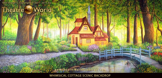 Whimsical Cottage Professional Scenic Backdrop